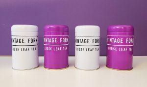 earl grey tea collection product image. 4 tins with earl grey tea